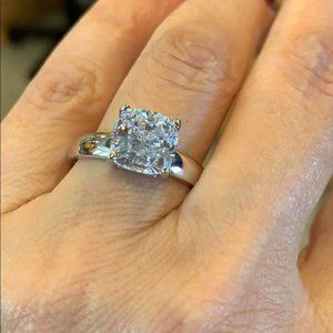 3ct Cushion cut Engagement Ring 5 6 7 8 9 10 11 12